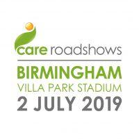 Care Roadshow Birmingham 2019 logo (white background)
